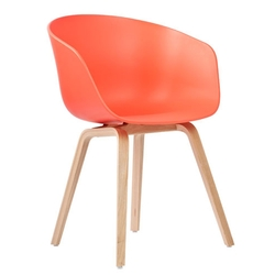 About A Chair AAC22 Roble Lacado/Coral