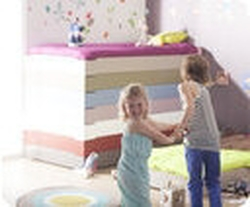 Cama apilable, HAPPY, 90x190cm, con somier, Natural