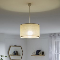 "Lámpara ""Suspension Design Strass tissus or 1 x 60 W INSPIRE"""