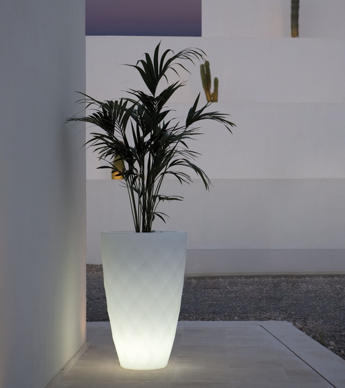 Macetero Vases en blanco brillo